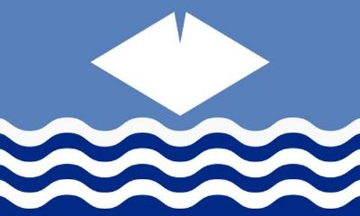 ISLE OF WIGHT (WAVES) - MINI FLAG 22.5cm x 15cm (60)